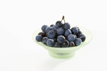 Glass bowl with sloes