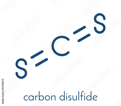 Carbon Disulfide Cs2 Molecule Liquid Used For Fumigation And As