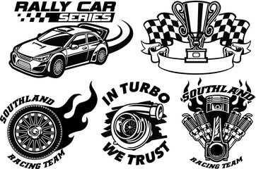 Racing Badge design set