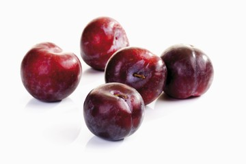 Red plums from Italy