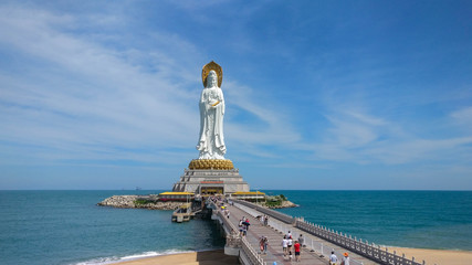 The statue of Guanyin in Hainan, China
