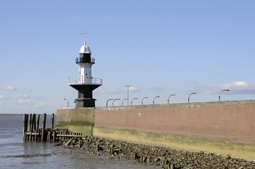 Brunsbuttel lighthouse, Schleswig-Holstein, Germany, Europe