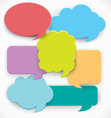 Speech bubble templates in many colors