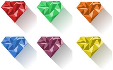 Diamond in six colors