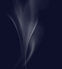 Background design with white smoke on dark blue background