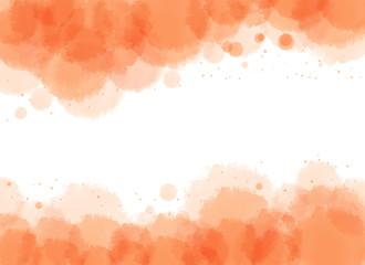 Watercolor background in orange tone
