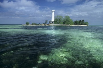 Lighthouse at the Tubbataha Reef, Philippines, Asia