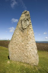Neolithic ritual place, Ring of Brodgar, Stromness, Orkney Islands, Scotland, United Kingdom, Europe