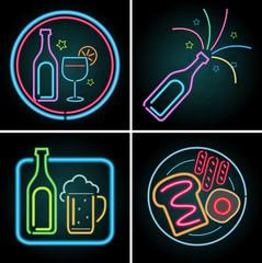 Neon light design for beverage