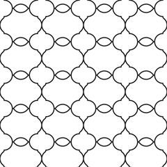 Stylish linear design in oriental style. Seamless vector pattern