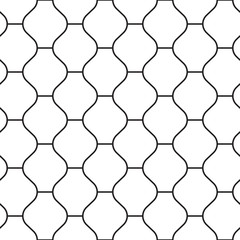 Oriental style tiling ornament. Seamless vector pattern