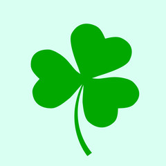 Irish holiday. Saint patricks day. Leaves clover. Vector illustration. Irish shamrock .
