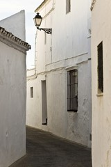 Narrow alleyway in an Andalusian village, Spain, Europe