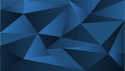 Background design with blue triangle shapes