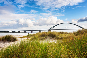 Foto auf AluDibond Bridges Fehmarn sound bridge