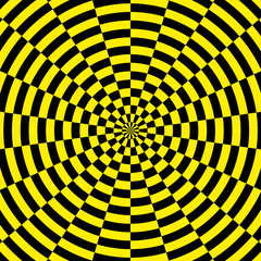 yellow and black radial background
