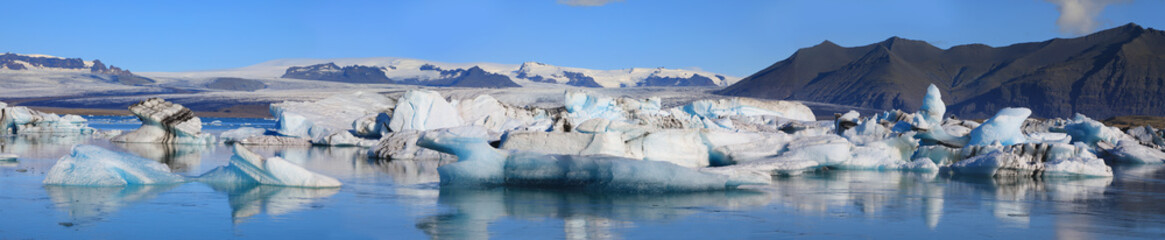 Beautiful glacial lake Jokulsarlon in Iceland