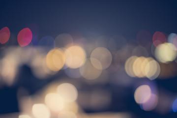 Farbige Lichtpunkte, Stadtpanorama, Hintergrundgrafik