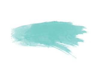 türkis farbfleck im wasserfarben look