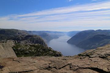 View from Preikestolen on the Lysfjorden