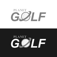 Golf logo design template