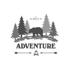 Adventure and outdoor logo design template