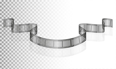 cinema film transparent stock vector illustration