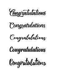 Congratulations card. Calligraphy handwritten lettering phrase.