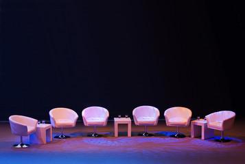 Leeres Podium auf einer Bühne