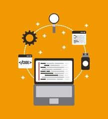 programming and coding concept website development vector illustration