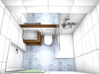 Modernes Badezimmer Von Oben