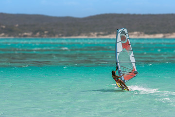 Women's windsurfer
