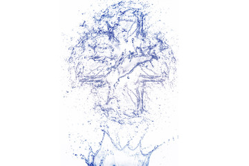 3D illustration on a white background water splash