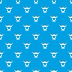 Princess crown pattern seamless blue