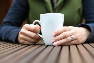 Cup of warm beverage