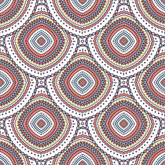 Beautiful boho chic vector seamless repeat pattern. Ethnic ornament. Detailed illustration. Great for fabric and textile, prints, phone case, invitation, packaging, wallpaper, greeting cards.