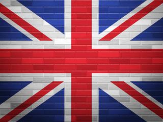 Brick wall UK flag
