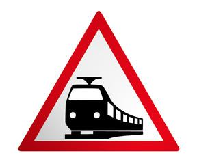 Deutsches Verkehrszeichen: Bahnübergang