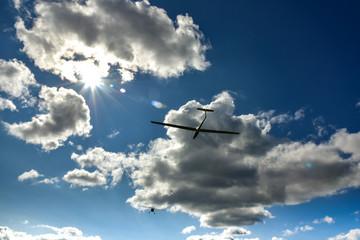 Foto auf AluDibond Luftsport Sport aeroplane tow glider