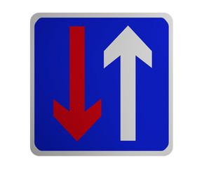 Deutsches Verkehrszeichen: Vorrang