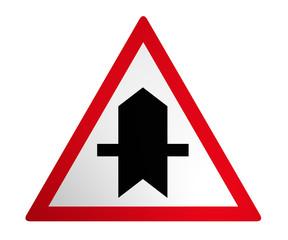 Deutsches Verkehrszeichen: Vorfahrt