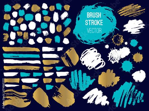 set stroke spot blod brush pen marker chalk stock image and