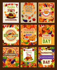 Thanksgiving greeting vector poters or cards