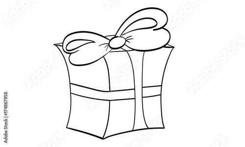 Geschenk Geschenkverpackung Ausmalbild Stock Image And Royalty