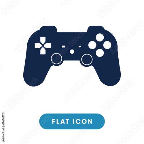 Joystick vector icon  game console symbol  Modern, simple flat