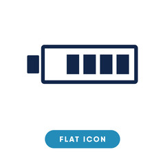 Battery low vector icon, charge symbol. Modern, simple flat vector illustration for web site or mobile app