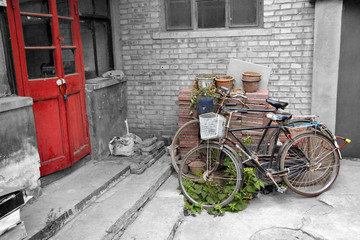Bicycle in alley
