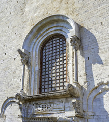 Saint Nicholas church in Bari. Apse window with representations of elephants