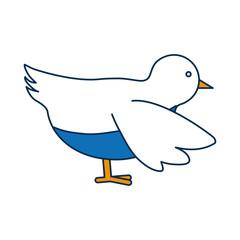 dove bird icon over white background vector illustration