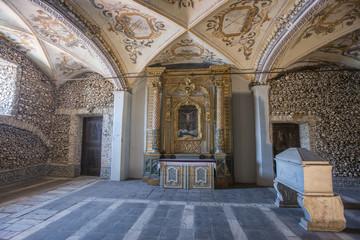 The Chapel of Bones (Capela dos Ossos), evora, portugal Wall mural